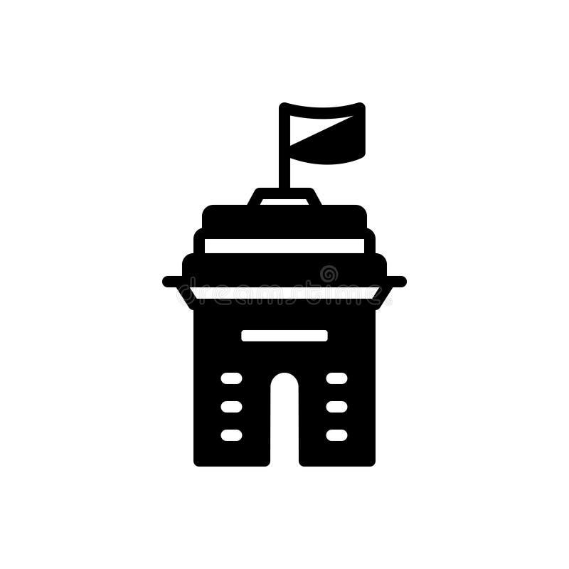 Icono sólido negro para el país, la provincia y el reino libre illustration