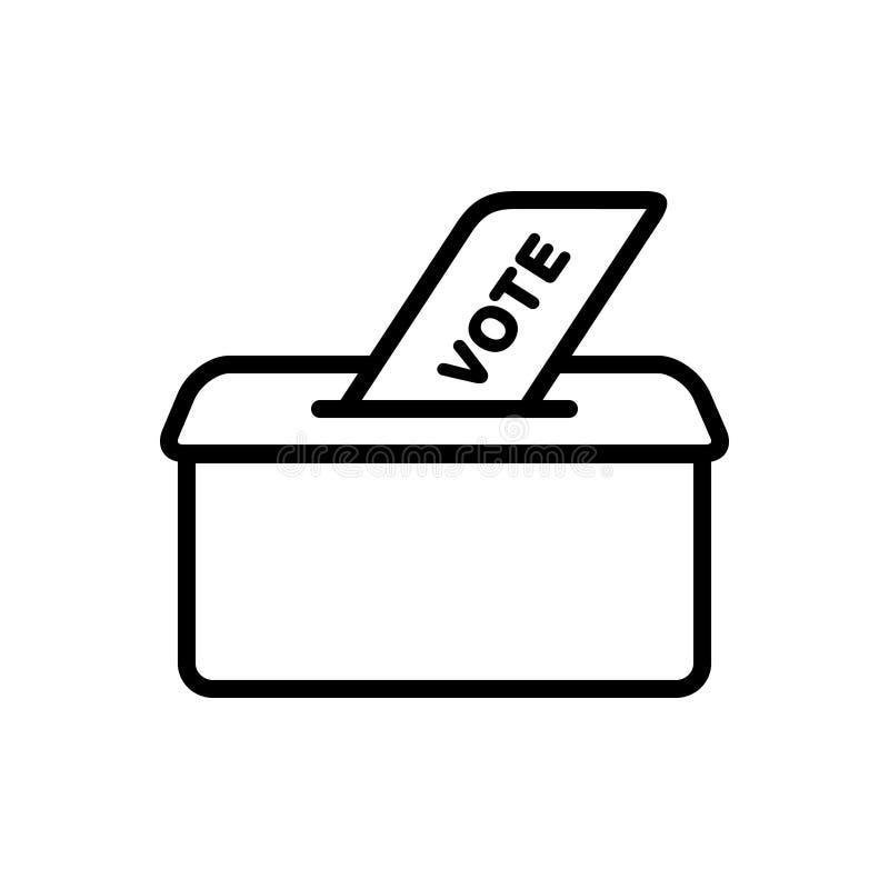 Icono sólido negro para el voto, las políticas y la elección ilustración del vector