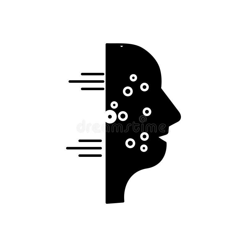 Icono sólido negro para la alergia, el sino y el polen stock de ilustración