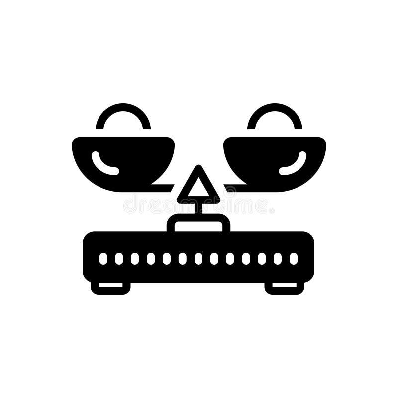 Icono sólido negro para la balanza de la carga, la balanza y la medida libre illustration