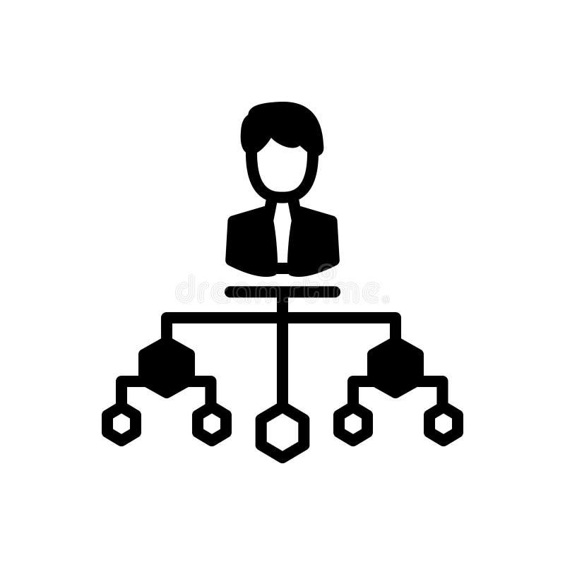 Icono sólido negro para la estructura, la organización y la compañía de la compañía stock de ilustración