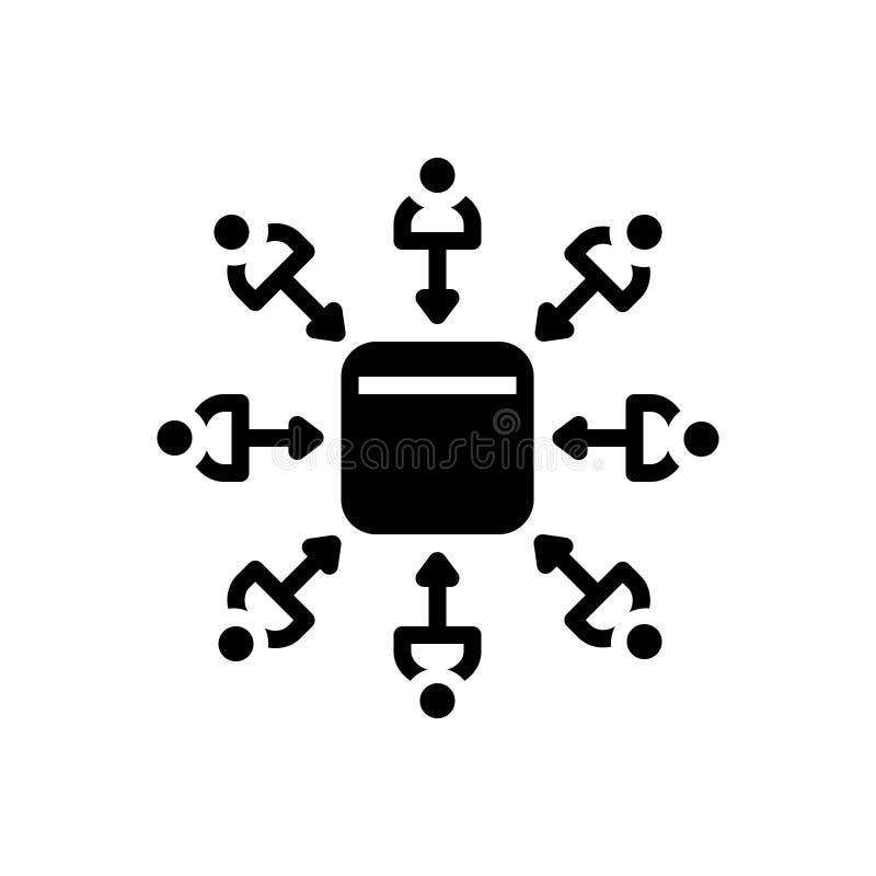 Icono s?lido negro para las ventajas, las ventas y el negocio libre illustration
