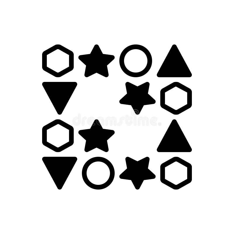 Icono sólido negro para los huecos, el intervalo y el espacio ilustración del vector