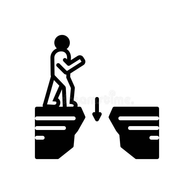 Icono sólido negro para los huecos, el intervalo y el espacio libre illustration