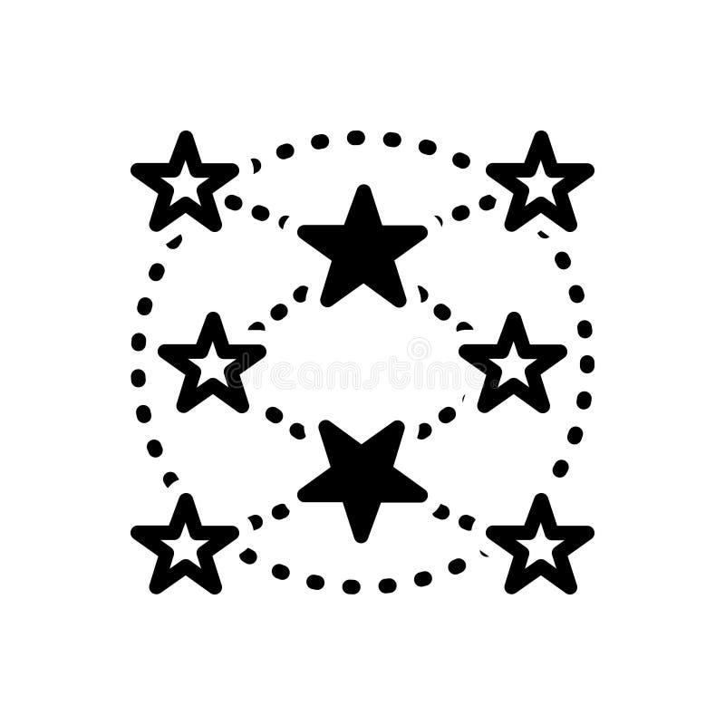 Icono sólido negro para por todas partes, ubicuo y dondequiera ilustración del vector