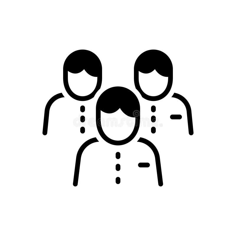 Icono sólido negro para Team Leader, la dirección y el grupo libre illustration