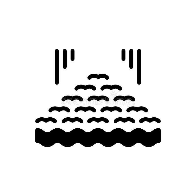 Icono sólido negro para varios, mucho y diverso libre illustration