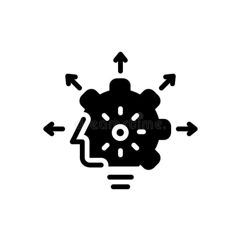 Icono s?lido negro para las capacidades, la capacidad y el calibre libre illustration