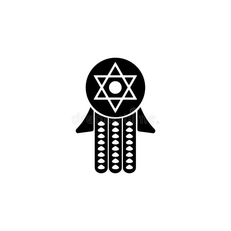 icono sagrado judío tradicional Elemento del icono de Jánuca para los apps móviles del concepto y de la web Icono sagrado judío t libre illustration