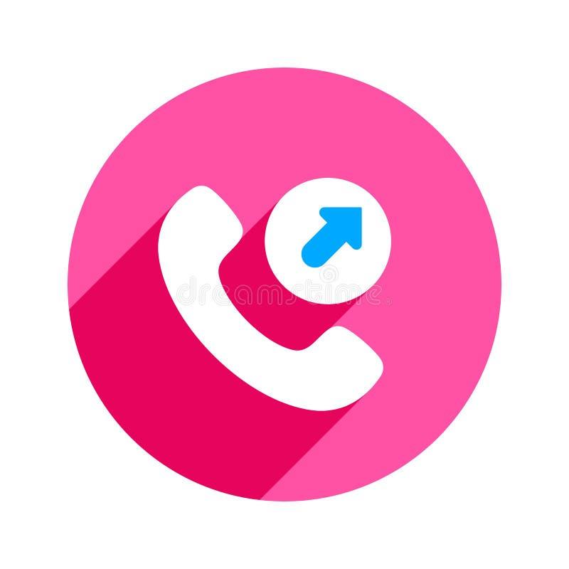 Icono saliente del teléfono de la llamada de teléfono del teléfono de la llamada de la flecha ilustración del vector