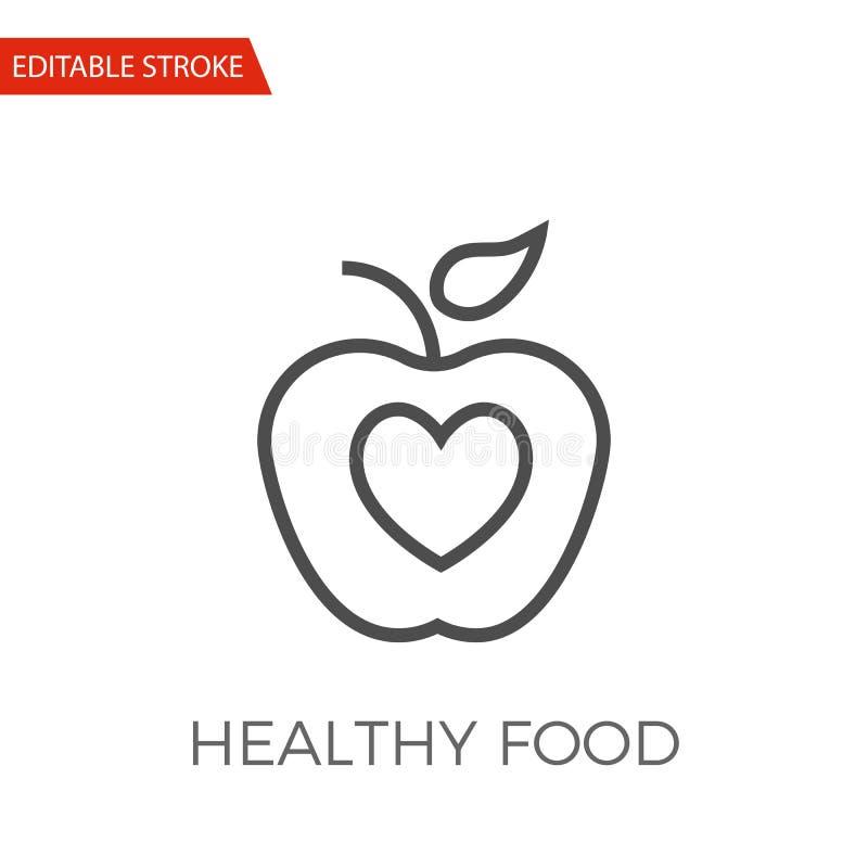 icono sano del vector de la comida stock de ilustración