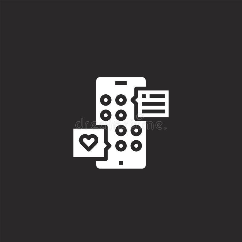 Icono sano Icono sano llenado para el diseño y el móvil, desarrollo de la página web del app icono sano de la colección sana llen stock de ilustración