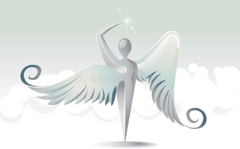 Icono santo de los ángeles ilustración del vector