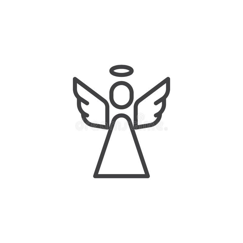 Icono santo del esquema del ángel libre illustration