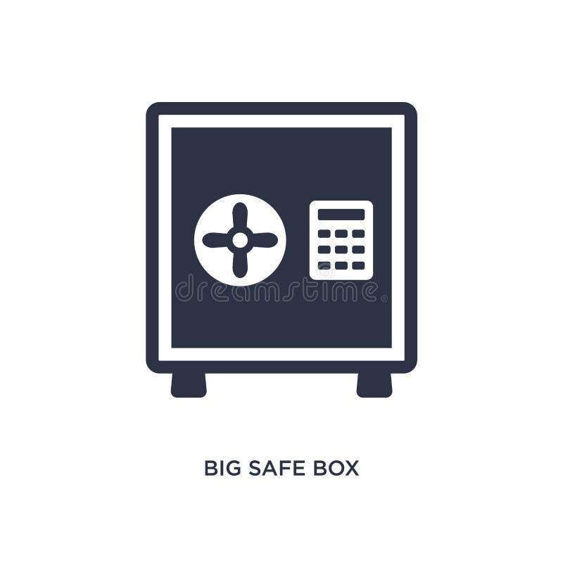 icono seguro grande de la caja en el fondo blanco Ejemplo simple del elemento del concepto del terminal de aeropuerto ilustración del vector