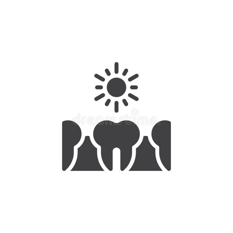 Icono sensible del vector de los dientes ilustración del vector