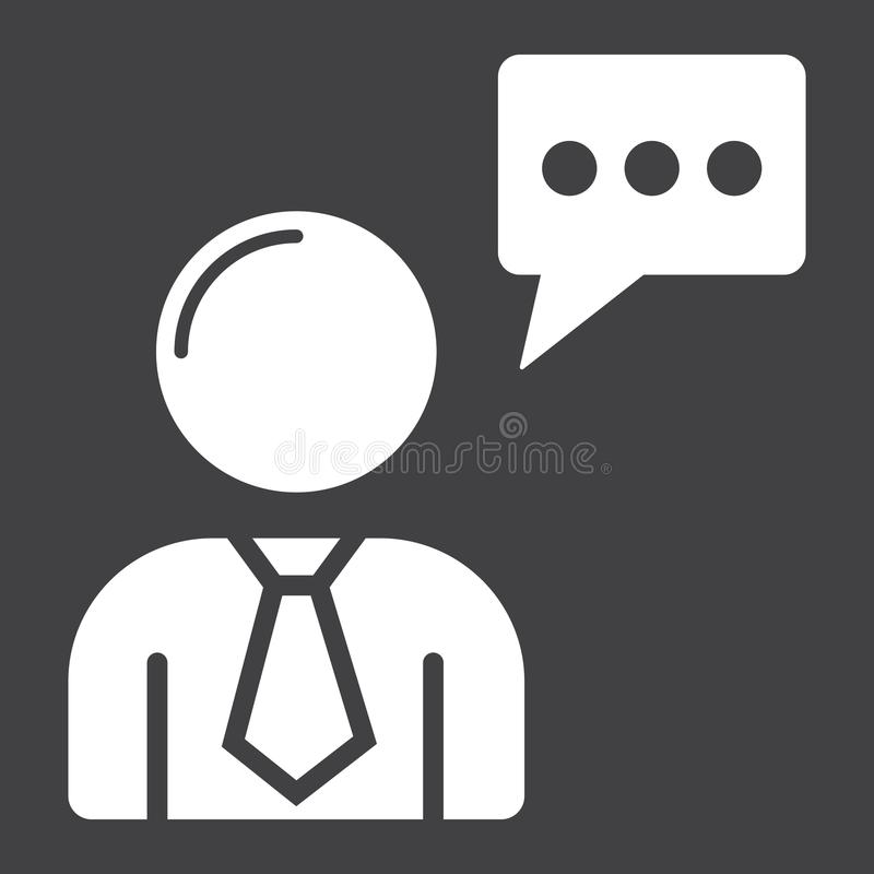 Icono, seo y desarrollo del glyph de Seo Consulting libre illustration
