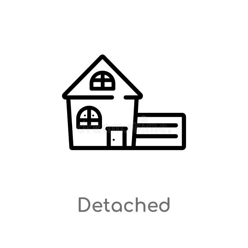 icono separado del vector del esquema l?nea simple negra aislada ejemplo del elemento del concepto de los edificios Movimiento Ed ilustración del vector