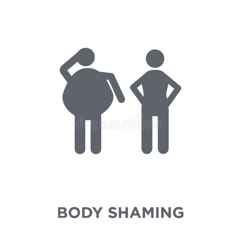icono shaming del cuerpo de la colección de la higiene ilustración del vector