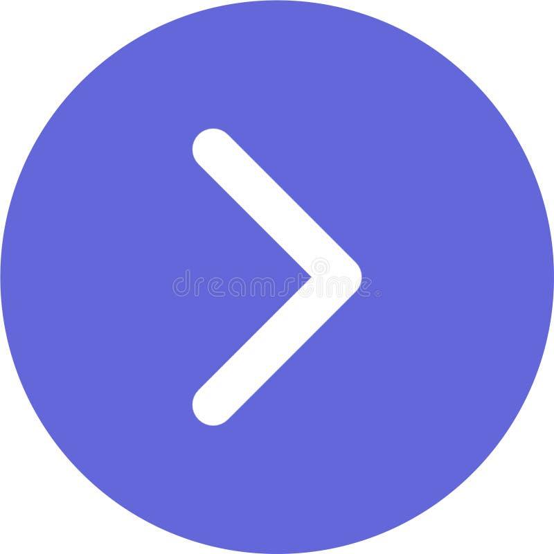 Icono siguiente de la flecha para Android, los usos del IOS y las aplicaciones web libre illustration