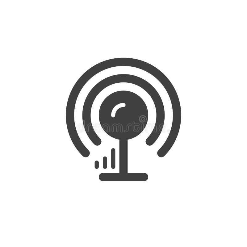 Icono simple de la antena inalámbrica de la señal libre illustration