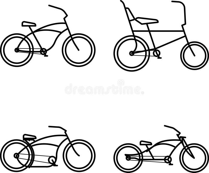 Icono simple de la bici de encargo fotografía de archivo libre de regalías