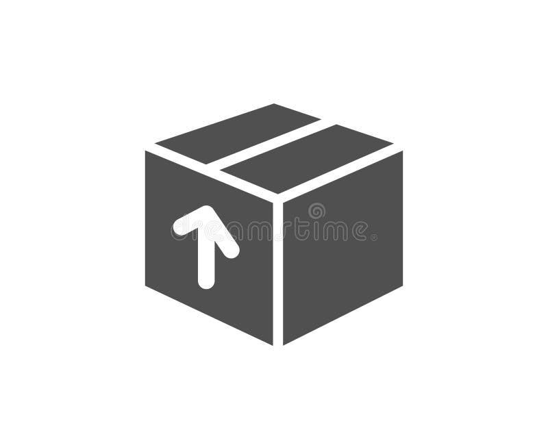 Icono simple de la caja de la entrega Muestra del paquete de la logística stock de ilustración