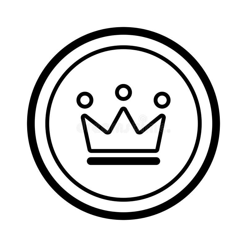Icono simple de la corona del rey Símbolo del VIP stock de ilustración