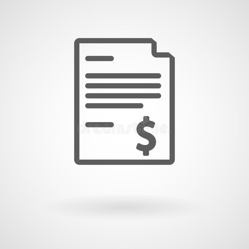 Icono simple de la factura, vector stock de ilustración