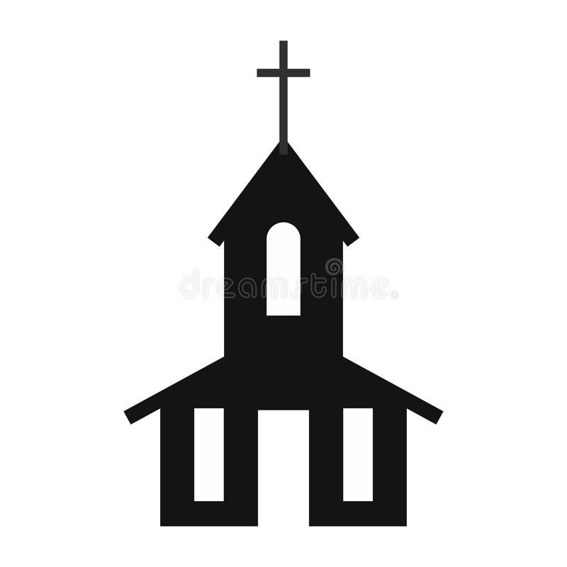 Icono simple de la iglesia ilustración del vector