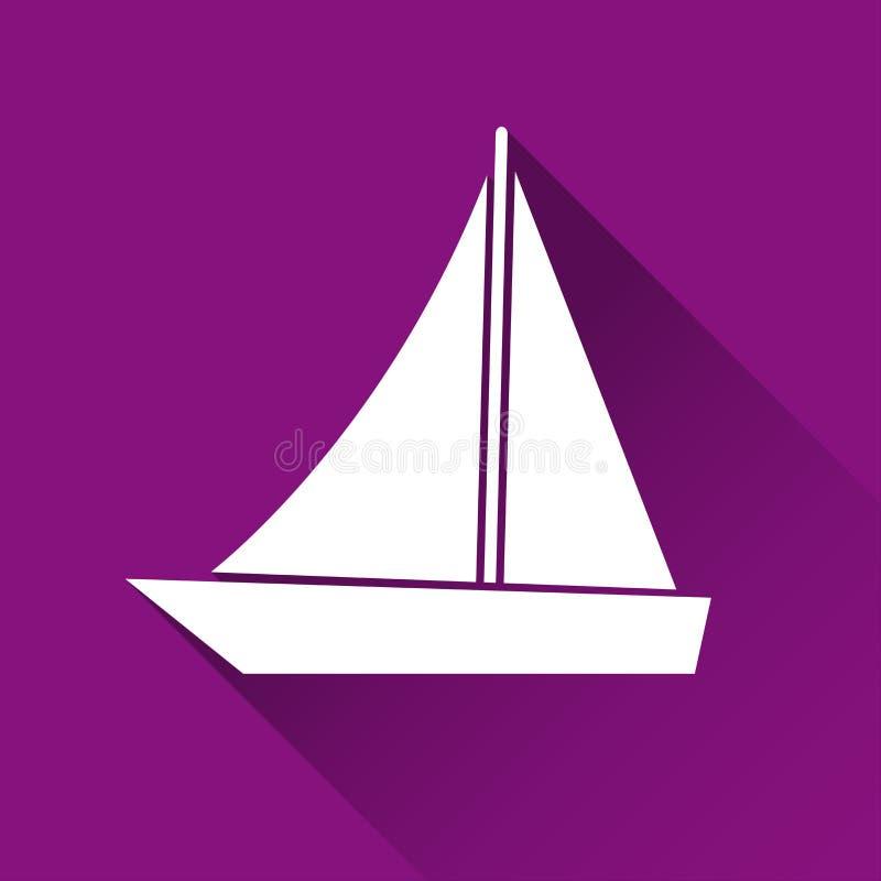 Icono simple de la nave, símbolo de barco, icono plano moderno del estilo ilustración del vector