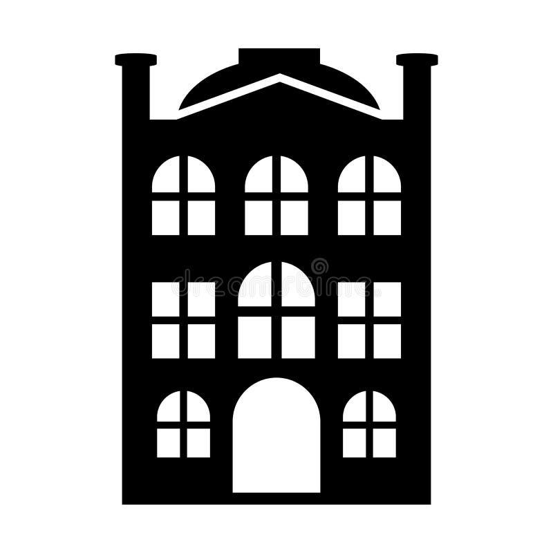 Icono simple de la nueva casa ilustración del vector