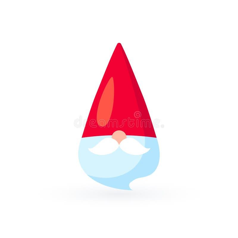 Icono simple de Papá Noel del vector en estilo plano stock de ilustración