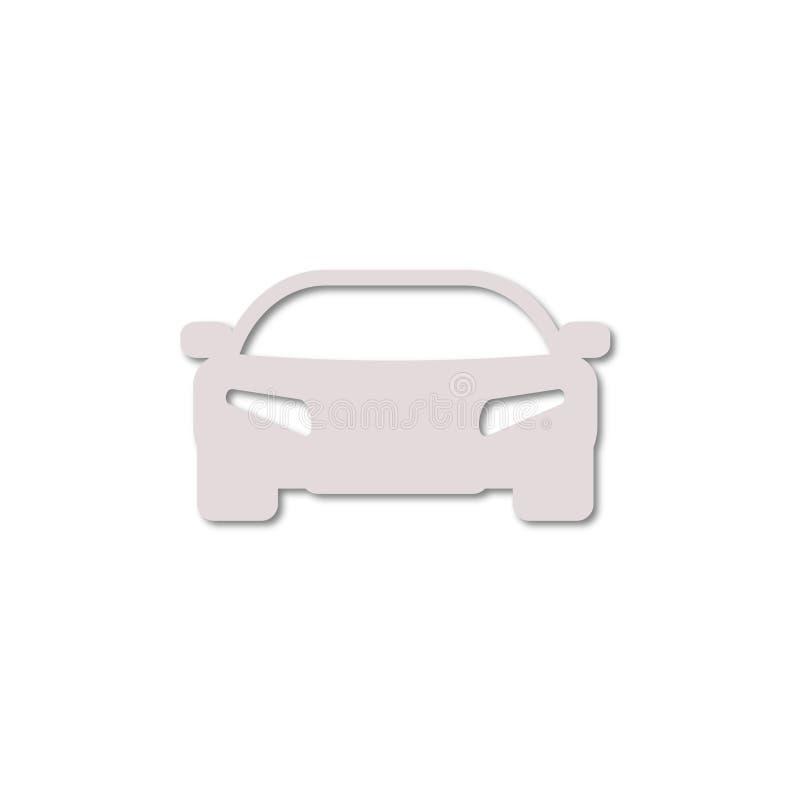 Icono simple del coche stock de ilustración