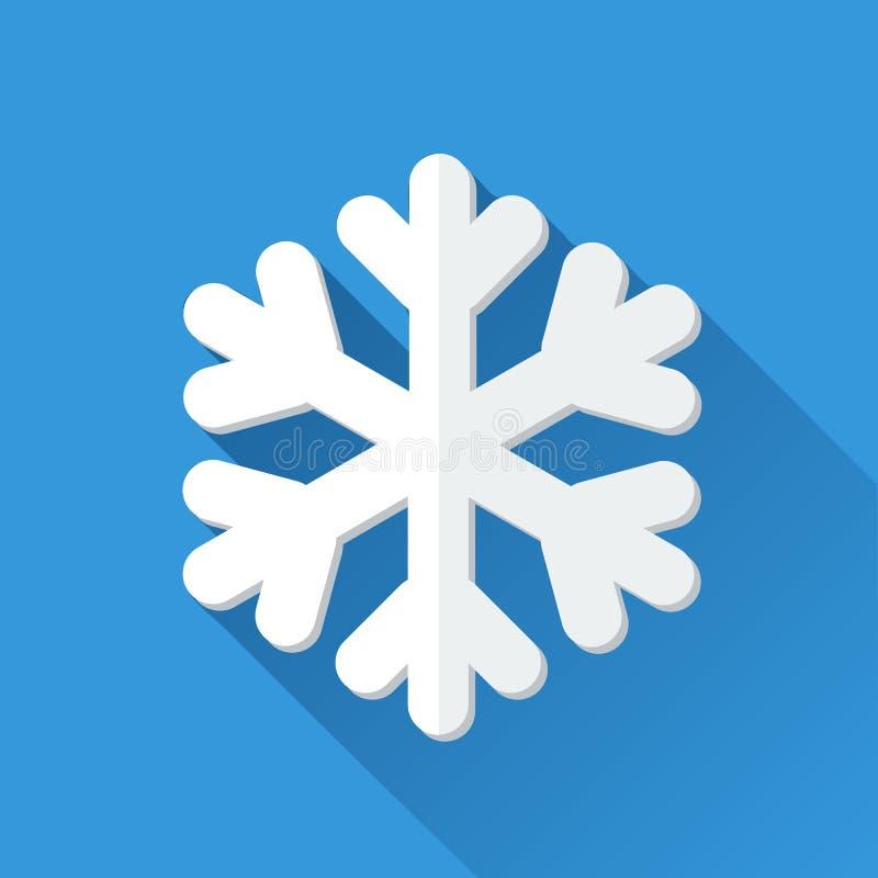 Icono simple del copo de nieve en estilo plano stock de ilustración