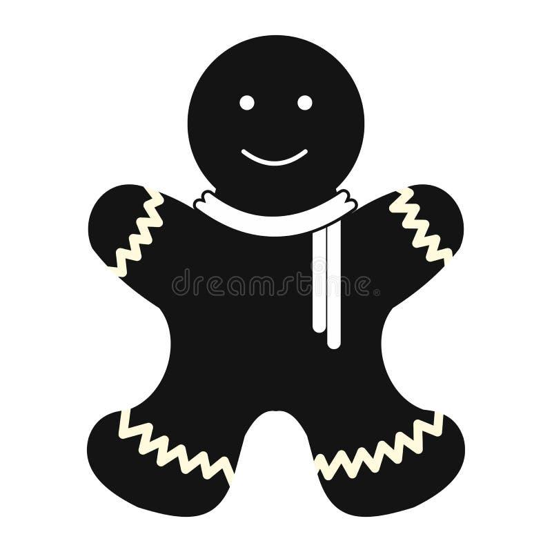 Icono simple del hombre de pan de jengibre de la Navidad libre illustration