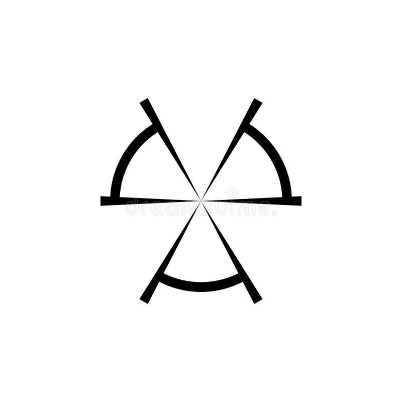 Icono simple del negro de la blanco del francotirador aislado en el fondo blanco ilustración del vector