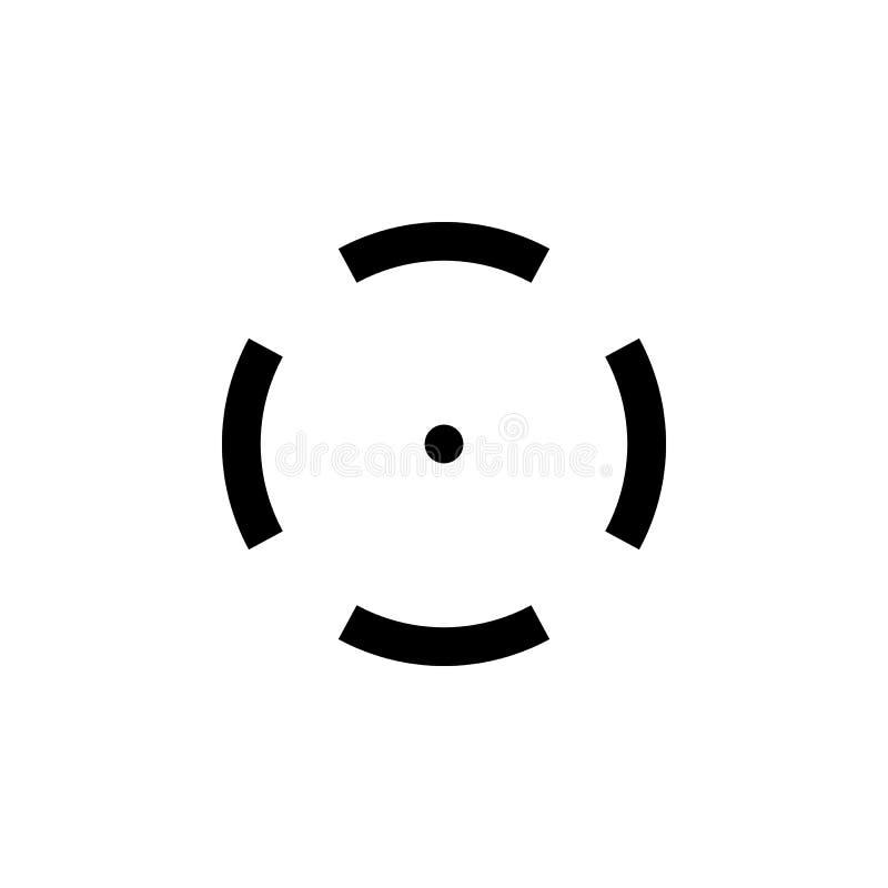 Icono simple del negro de la blanco del francotirador libre illustration