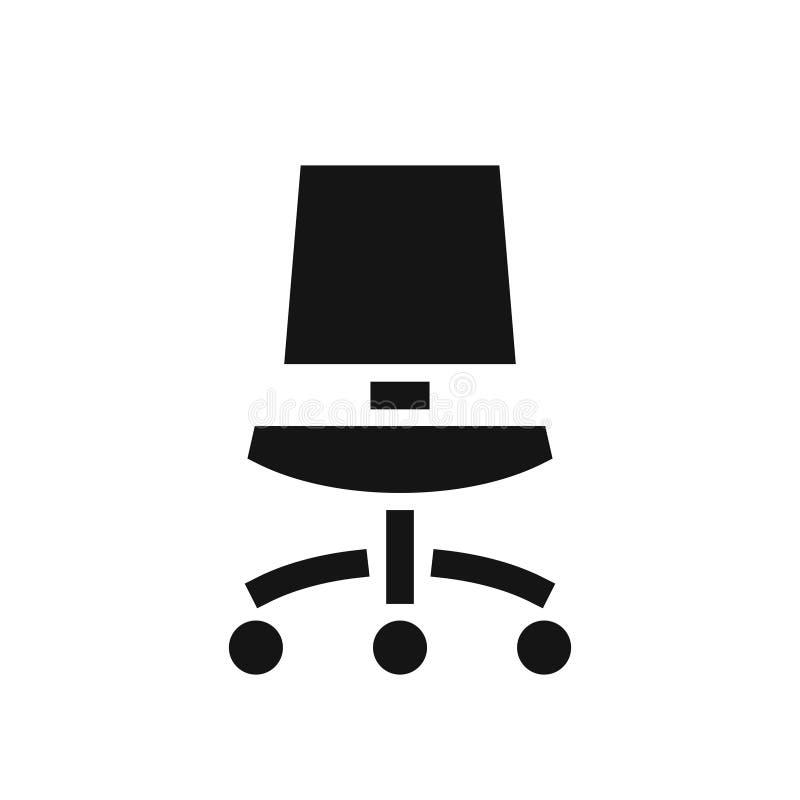Icono simple del negro de la silla de la oficina libre illustration