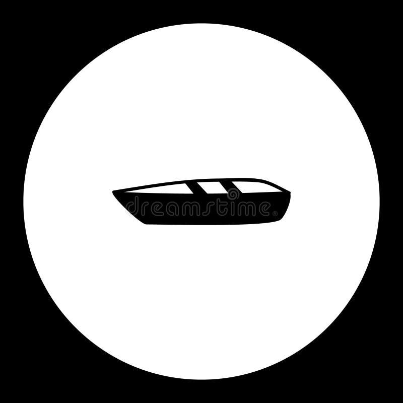 Icono simple del negro de la silueta del bote pequeño libre illustration