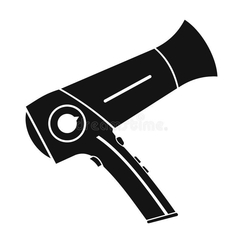 Icono simple del negro plano del icono de Hairdryer libre illustration
