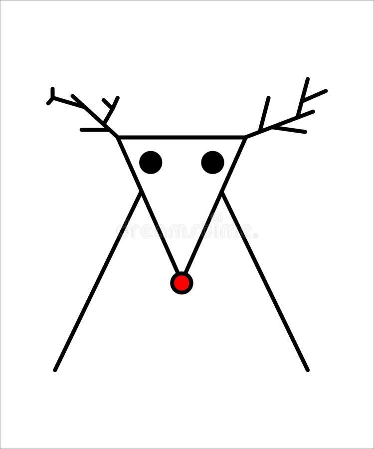 Icono simple del reno stock de ilustración