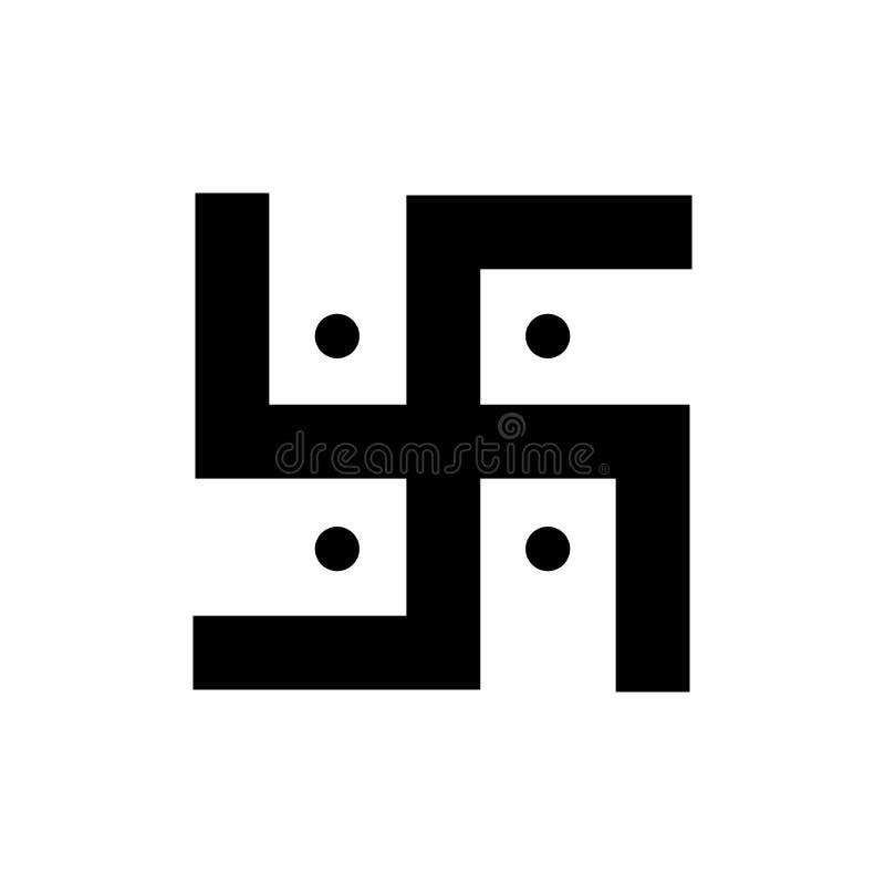 Icono simple del símbolo religioso de la cruz gamada ilustración del vector