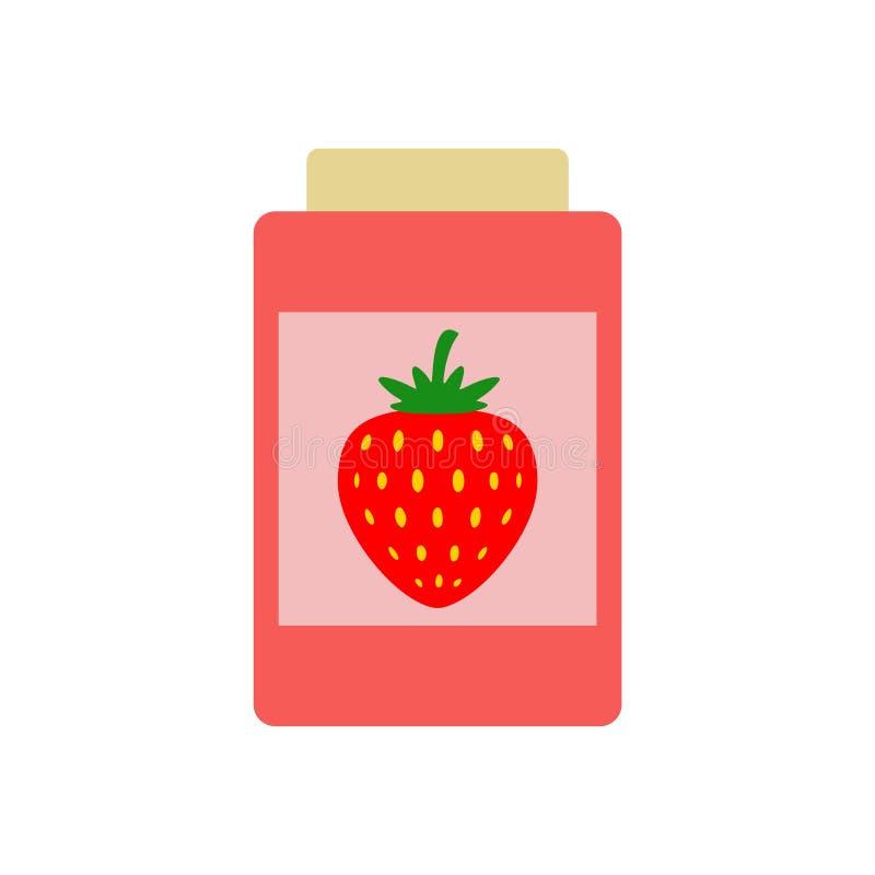 Icono simple del tarro de la mermelada de fresa libre illustration