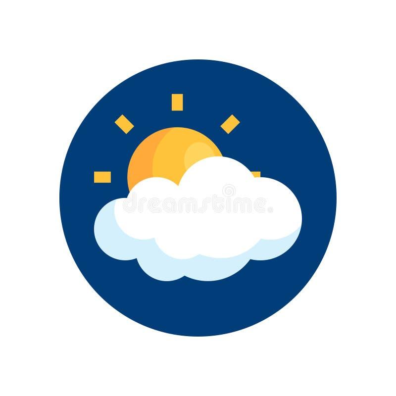 Icono simple del vector del tiempo en estilo plano libre illustration