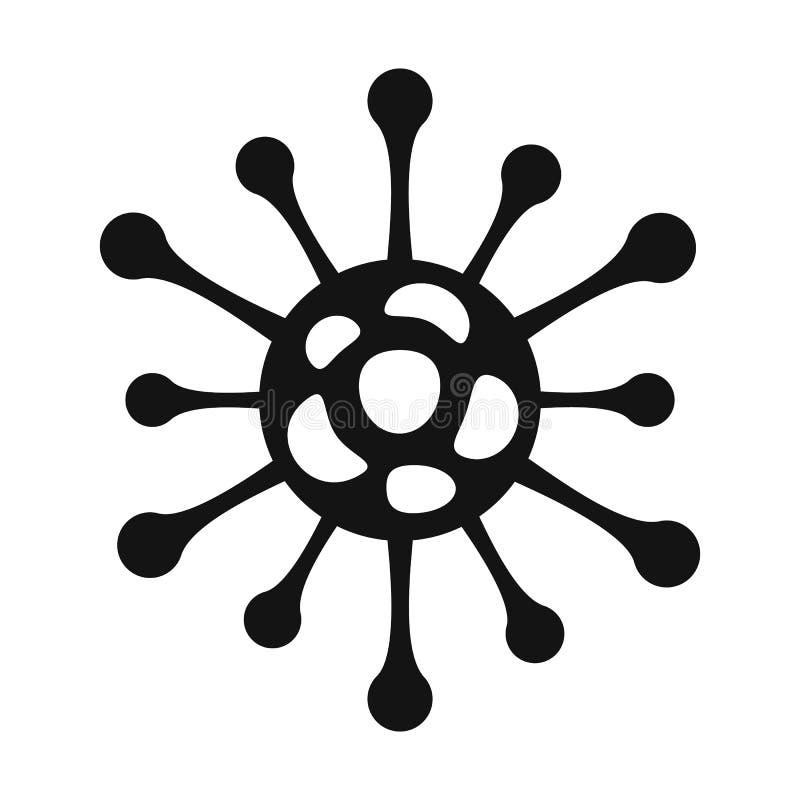 Icono simple negro del virus stock de ilustración