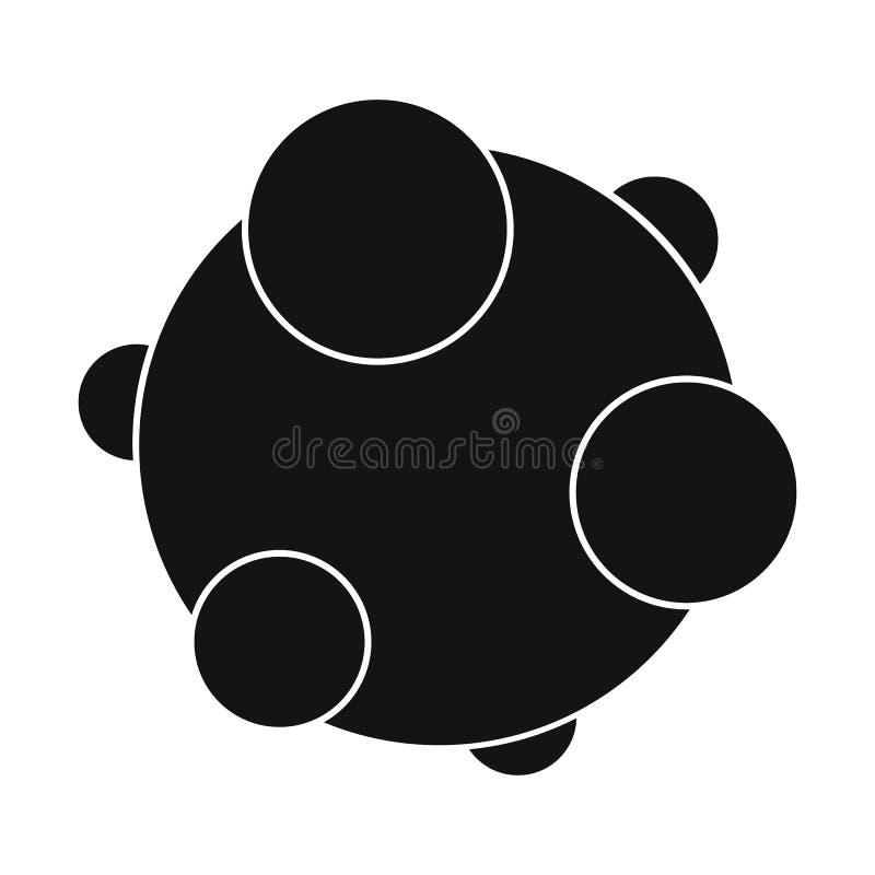 Icono simple negro del virus ilustración del vector
