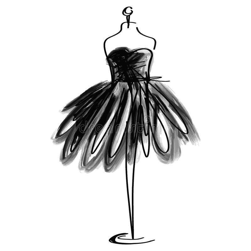 Icono simulado de la moda del sastre en el fondo blanco Taller, diseñador, constructor, objeto de la modista Símbolo negro de las ilustración del vector