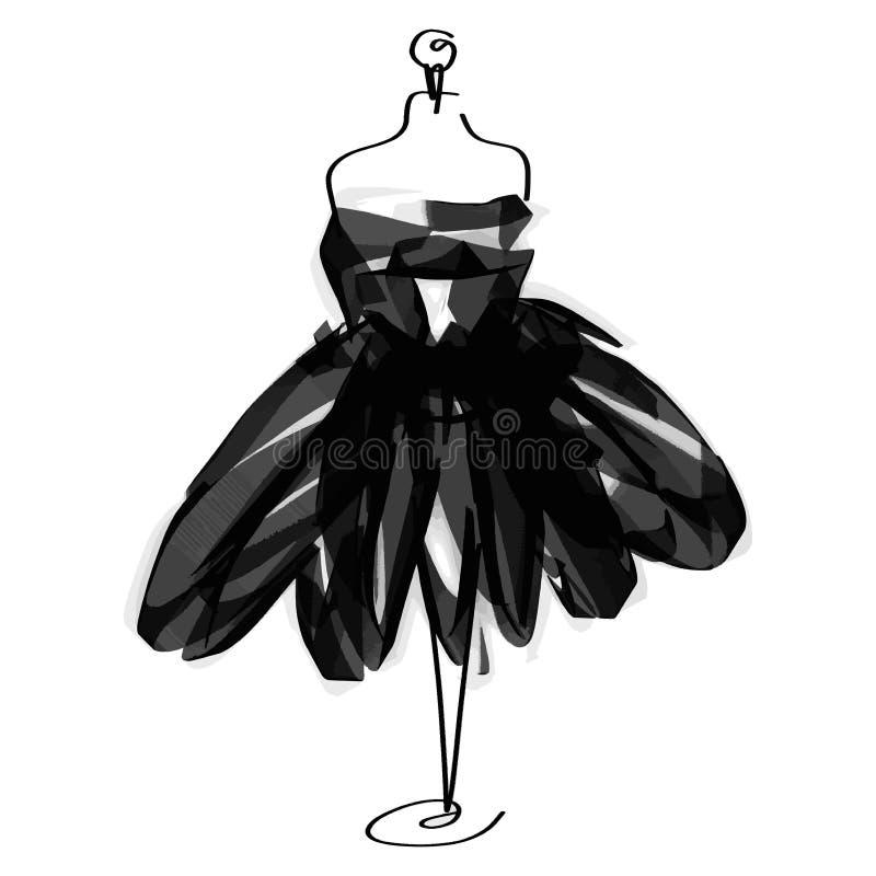 Icono simulado de la moda del sastre en el fondo blanco Taller, diseñador, constructor, objeto de la modista Símbolo negro de las stock de ilustración