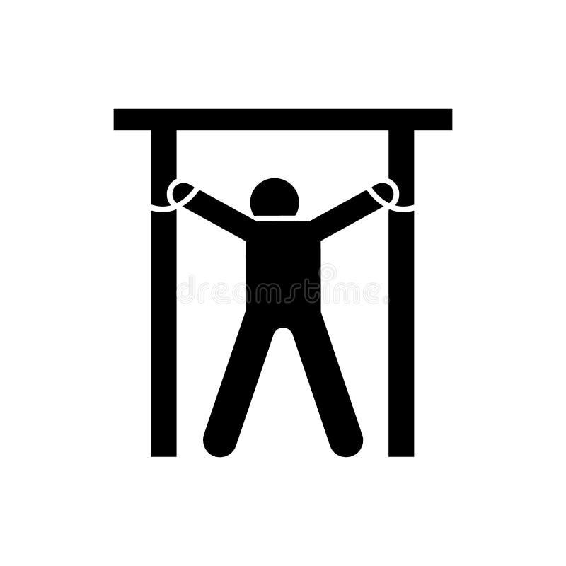Icono sin vida de la matanza muerta del hombre Elemento del ejemplo de la muerte del pictograma stock de ilustración